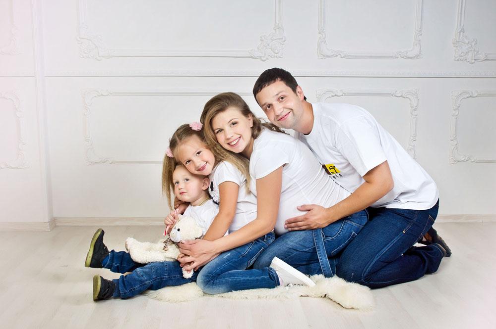 Семейная фотосессии беременных