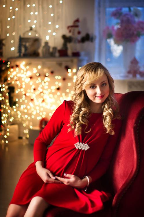 Новогодняя фотосессия беременных фото 781